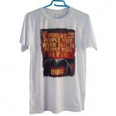 """KEEP DRY"" T-SHIRT ΛΕΥΚΟ 100% POLY ΜΕ ΤΥΠΩΜΑ 1"