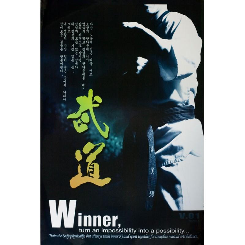"""ΑΦΙΣΑ ΠΛΑΣΤΙΚΟΠΟΙΗΜΕΝΗ """"WINNER"""", 75cm x 53cm"""